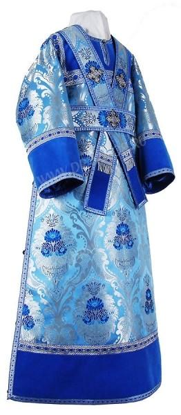 Иподьяконское облачение из парчи ПГ4 (синий/серебро)