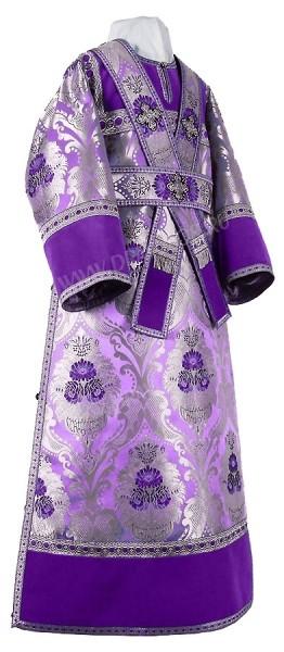 Иподьяконское облачение из парчи ПГ4 (фиолетовый/серебро)