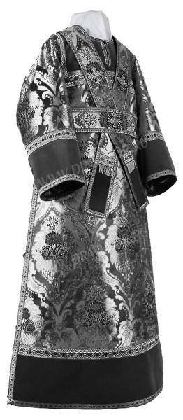 Иподьяконское облачение из парчи ПГ6 (чёрный/серебро)