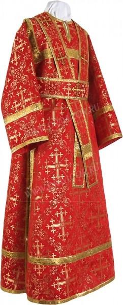 Иподьяконское облачение из шёлка Ш2 (красный/золото)