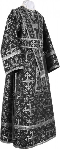 Иподьяконское облачение из шёлка Ш2 (чёрный/серебро)