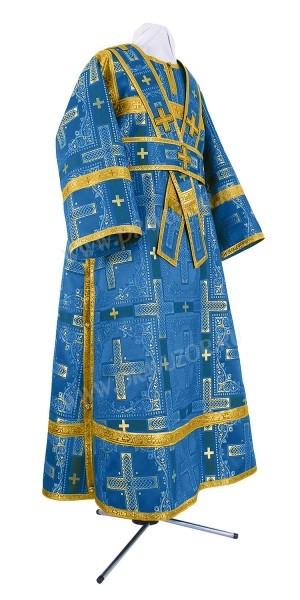 Иподьяконское облачение из шёлка Ш3 (синий/золото)