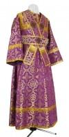 Иподьяконское облачение из шёлка Ш3 (фиолетовый/золото)