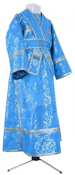 Иподьяконское облачение из шёлка Ш4 (синий/серебро)