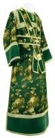 Иподьяконское облачение из кит. шёлка ШК (зелёный/золото)