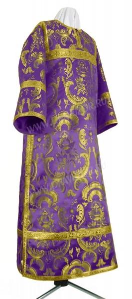 Стихарь клирика из парчи ПГ5 (фиолетовый/золото)
