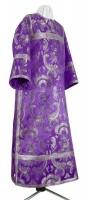 Стихарь клирика из парчи ПГ5 (фиолетовый/серебро)