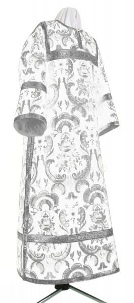 Стихарь клирика из парчи ПГ6 (белый/серебро)