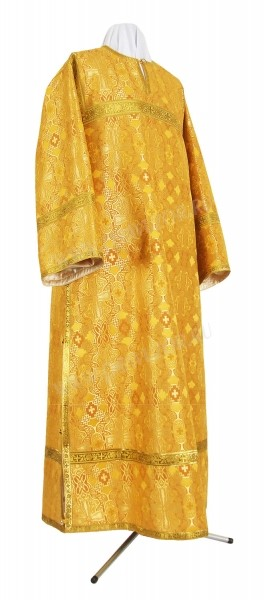Стихарь клирика из шёлка Ш2 (жёлтый/золото)