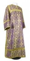 Стихарь клирика из шёлка Ш2 (фиолетовый/золото)