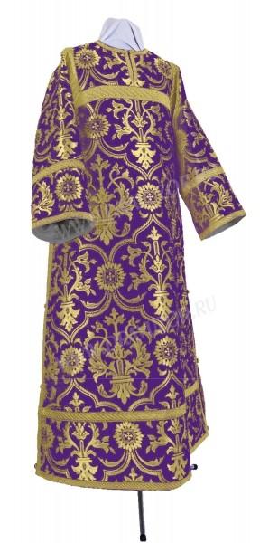Стихарь клирика из шёлка Ш4 (фиолетовый/золото)
