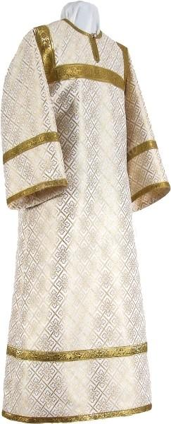 Стихарь алтарника из парчи ПГ1 (белый/золото)