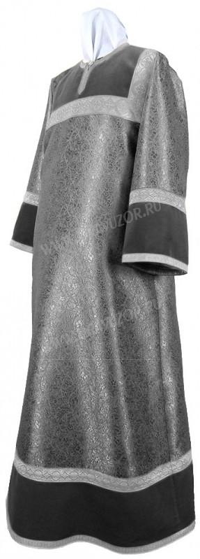 Стихарь алтарника из парчи ПГ3 (чёрный/серебро)
