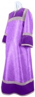 Стихарь алтарника из парчи ПГ4 (фиолетовый/серебро)