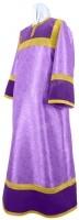 Стихарь алтарника из парчи ПГ5 (фиолетовый/золото)