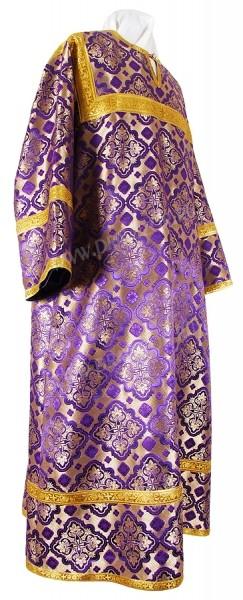 Стихарь алтарника из шёлка Ш2 (фиолетовый/золото)