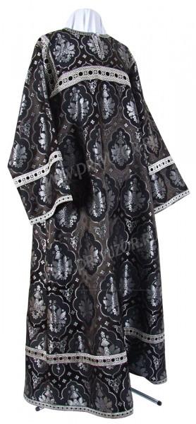 Стихарь алтарника из шёлка Ш2 (чёрный/серебро)