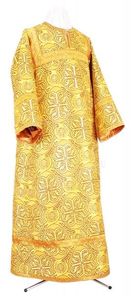 Стихарь алтарника из шёлка Ш3 (жёлтый-бордо/золото)