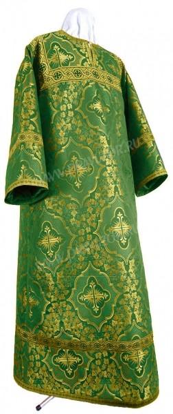 Стихарь алтарника из шёлка Ш4 (зелёный/золото)