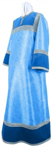 Стихарь детский из парчи ПГ3 (синий/серебро)