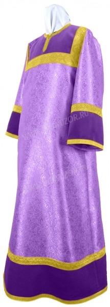 Стихарь детский из парчи ПГ3 (фиолетовый/золото)