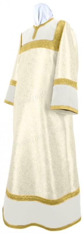 Стихарь детский из парчи ПГ3 (белый/золото)