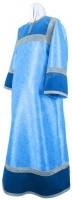 Стихарь детский из парчи ПГ4 (синий/серебро)