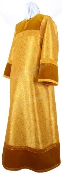 Стихарь детский из парчи ПГ4 (жёлтый/золото)
