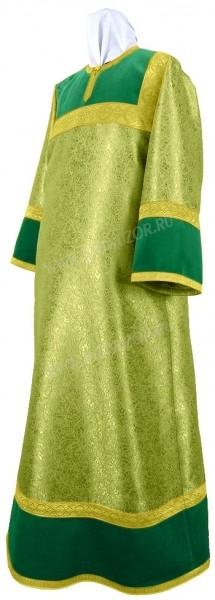 Стихарь детский из парчи ПГ4 (зелёный/золото)