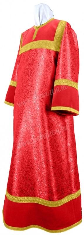 Стихарь детский из парчи ПГ4 (красный/золото)
