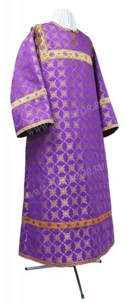 Стихарь детский из шёлка Ш2 (фиолетовый/золото)