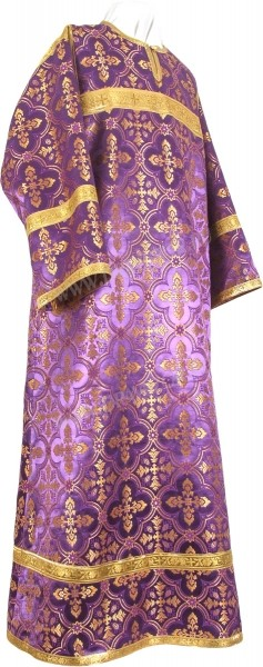 Стихарь детский из шёлка Ш3 (фиолетовый/золото)