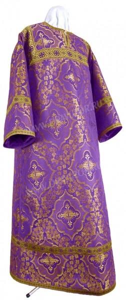Стихарь детский из шёлка Ш4 (фиолетовый/золото)
