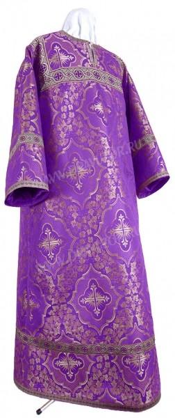 Стихарь детский из шёлка Ш4 (фиолетовый/серебро)