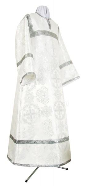 Стихарь детский из шёлка Ш4 (белый/серебро)