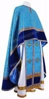 Греческое иерейское облачение из парчи П (синий/золото)