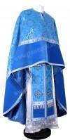 Греческое иерейское облачение из парчи ПГ1 (синий/серебро)