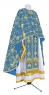 Греческое иерейское облачение из парчи ПГ2 (синий/золото)
