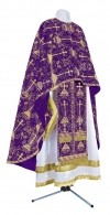 Греческое иерейское облачение из парчи ПГ2 (фиолетовый/золото)
