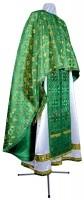 Греческое иерейское облачение из парчи ПГ3 (зелёный/золото)