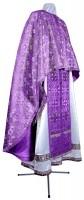 Греческое иерейское облачение из парчи ПГ3 (фиолетовый/серебро)