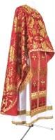 Греческое иерейское облачение из парчи ПГ5 (красный/золото)