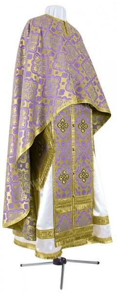 Греческое иерейское облачение из шёлка Ш2 (фиолетовый/золото)