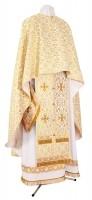 Греческое иерейское облачение из шёлка Ш2 (белый/золото)