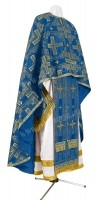 Греческое иерейское облачение из шёлка Ш3 (синий/золото)