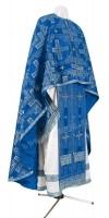 Греческое иерейское облачение из шёлка Ш3 (синий/серебро)