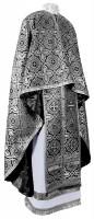 Греческое иерейское облачение из шёлка Ш3 (чёрный/серебро)