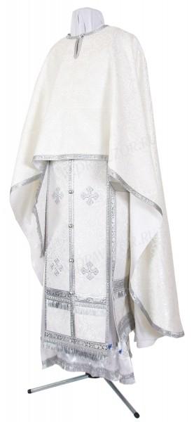 Греческое иерейское облачение из шёлка Ш3 (белый/серебро)