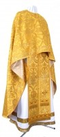 Греческое иерейское облачение из шёлка Ш4 (жёлтый-бордо/золото)