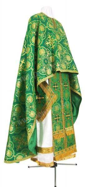 Греческое иерейское облачение из шёлка Ш4 (зелёный/золото)